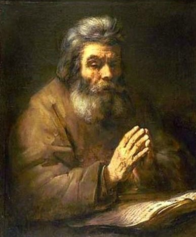 Old Man Praying - Rembrandt -