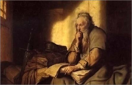 Paul in Prison -Rembrandt 1627-