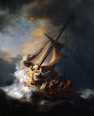 Christ in the Storm on the Lake of Galilee -Rembrandt 1633-