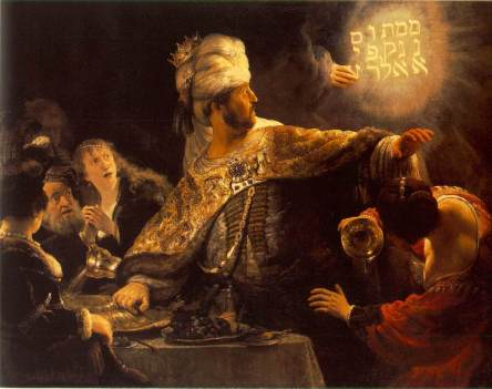 The Feast of Belshazzar - Rembrandt 1635-